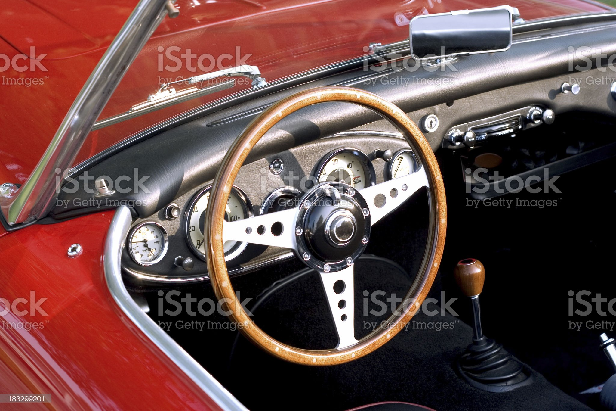 Retro Sports Car royalty-free stock photo