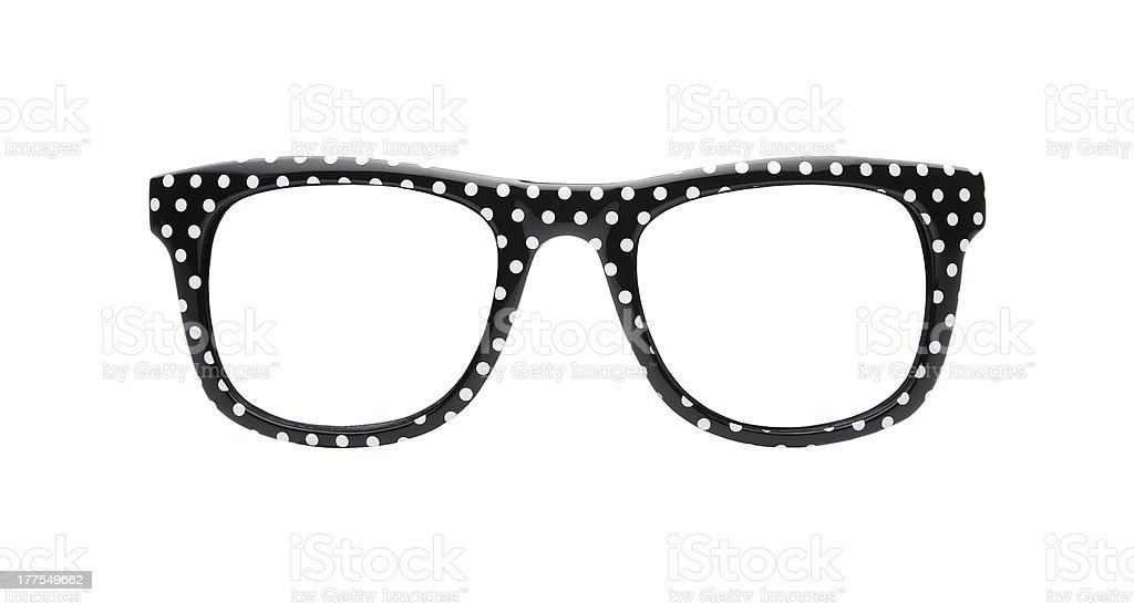 Retro spotted glasses stock photo