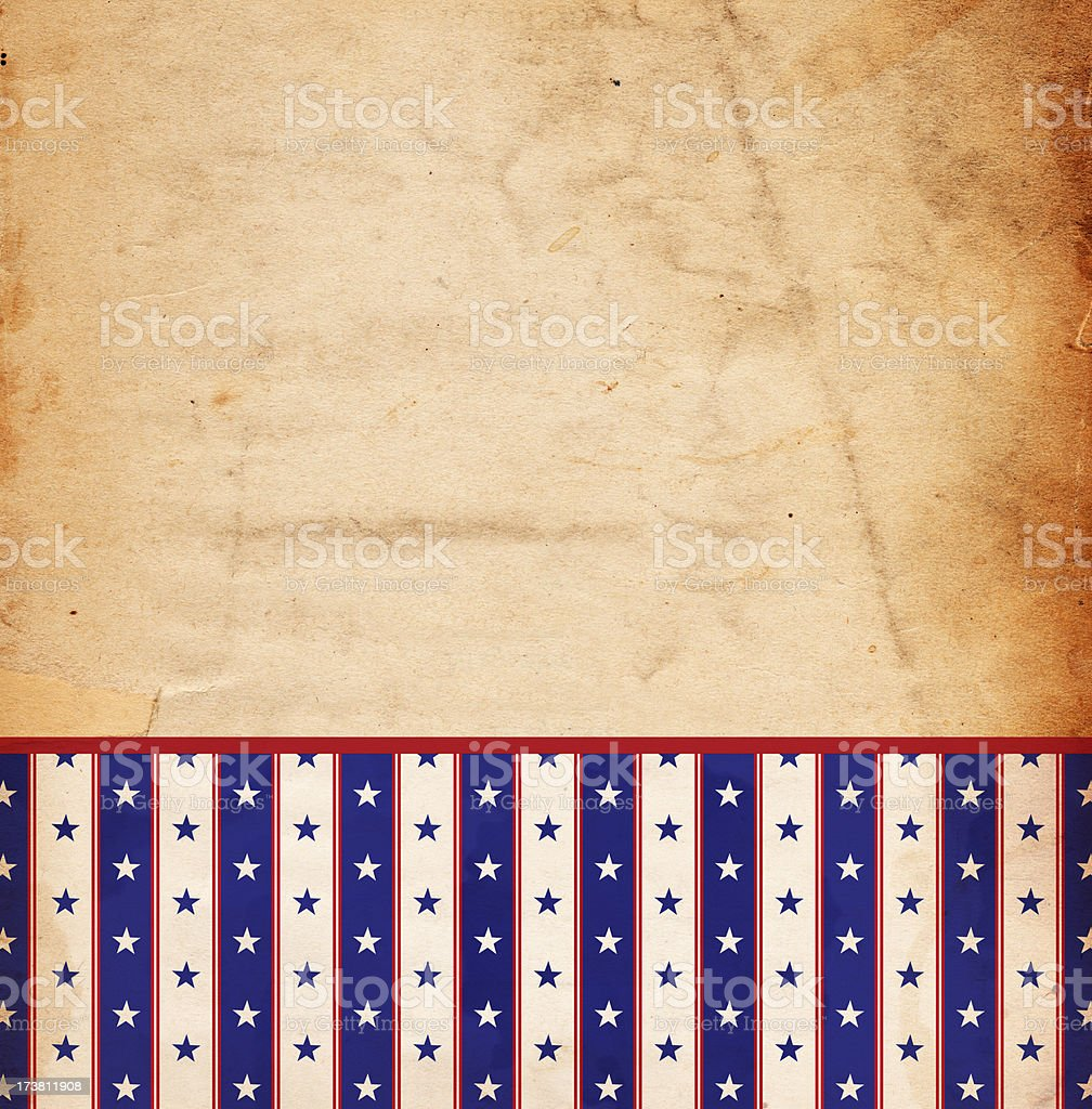Retro Star and Stripe Paper XXXL royalty-free stock photo