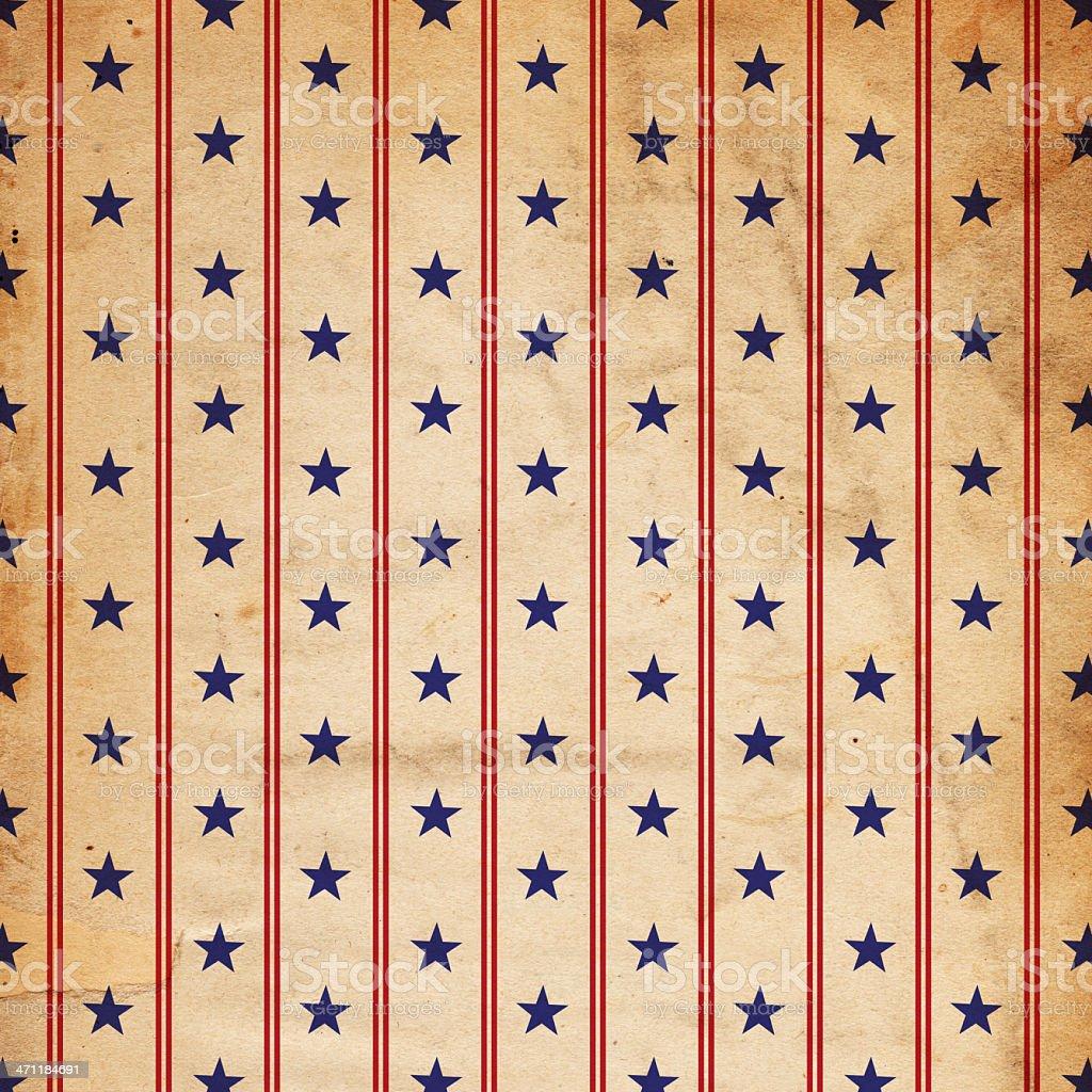 Retro Star and Stripe Paper XXXL stock photo
