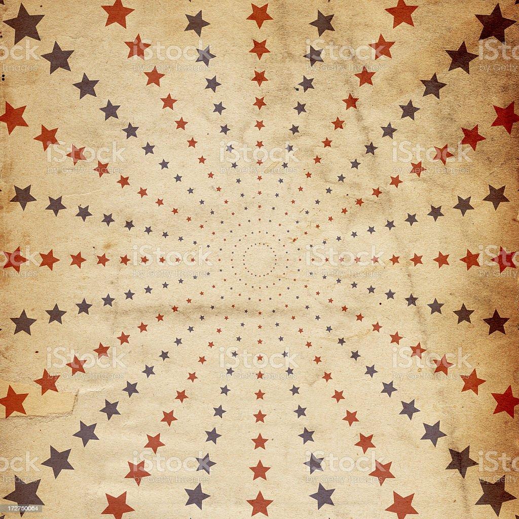 Retro Star Paper XXXL royalty-free stock photo
