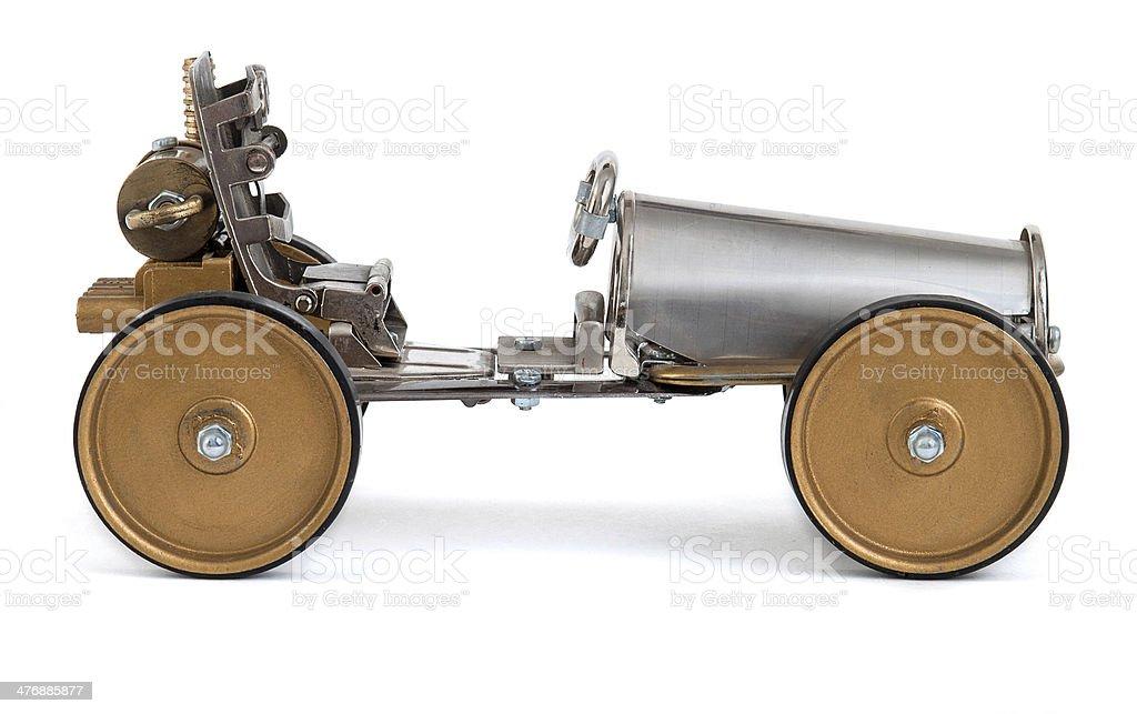 Retro steampunk car stock photo