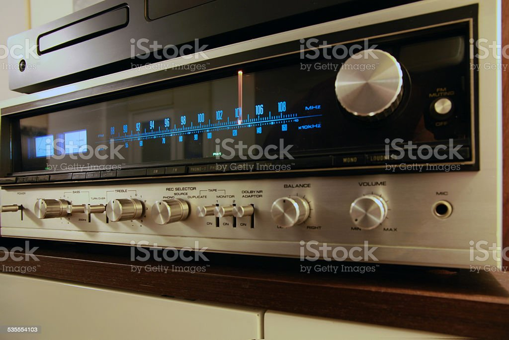 Retro stereo stock photo
