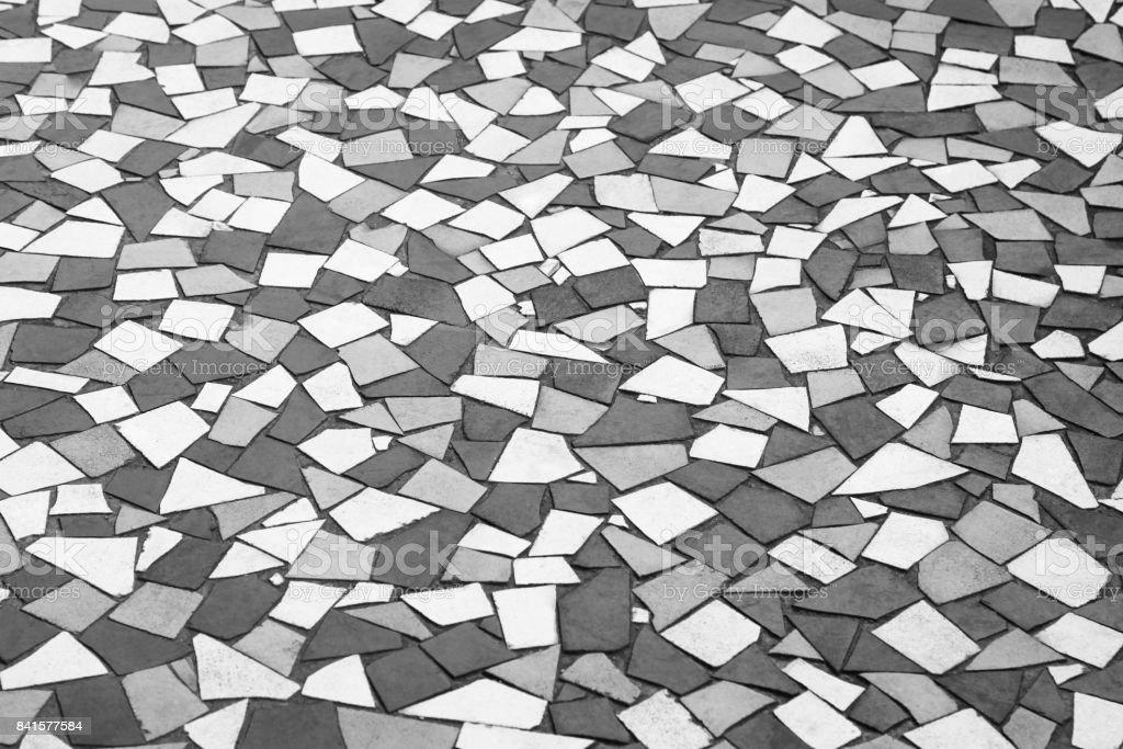 Retro stone floor tiling pattern stock photo