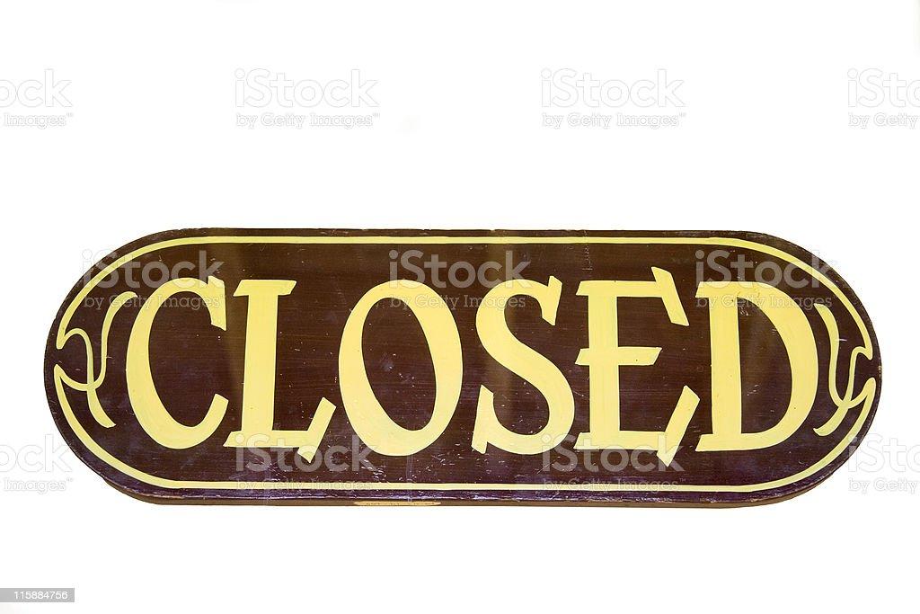 retro storesign closed royalty-free stock photo