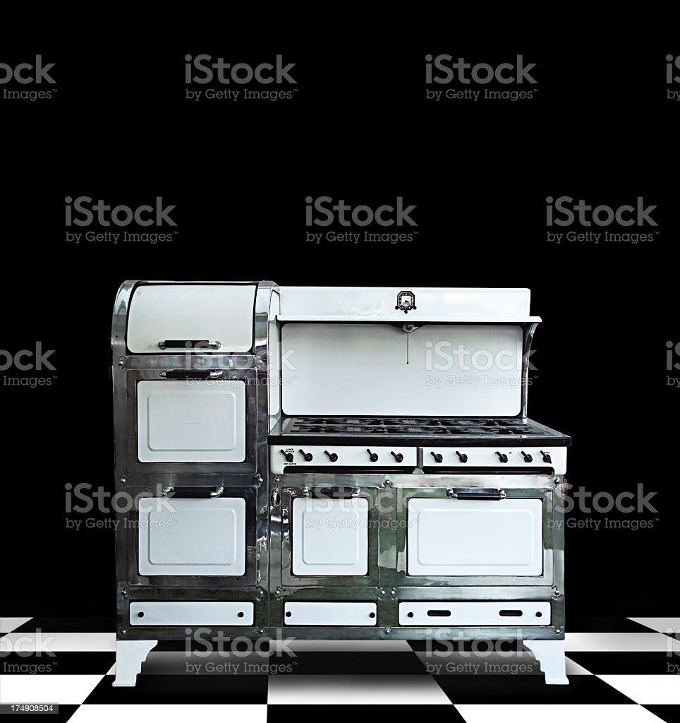 retro stove royalty-free stock photo