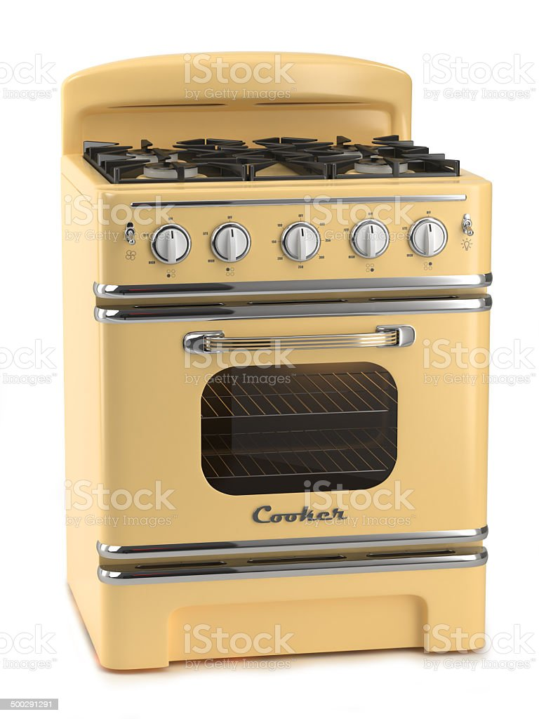 Retro stove stock photo