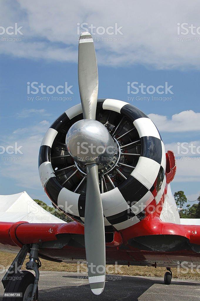 Retro style aircraft propeller royalty-free stock photo