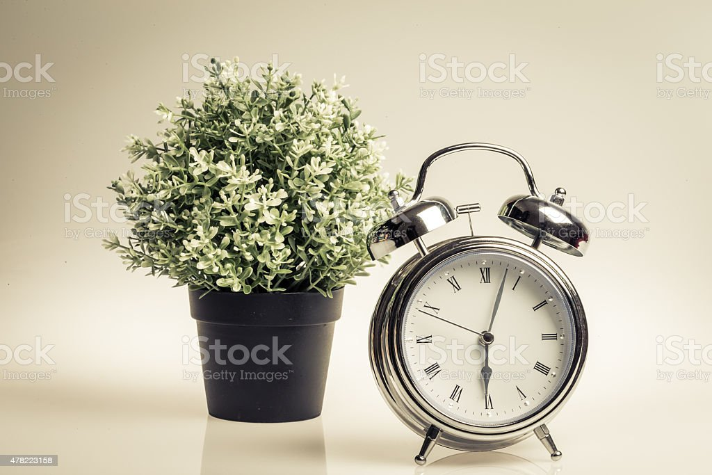 Retro Style Alarm Clock stock photo