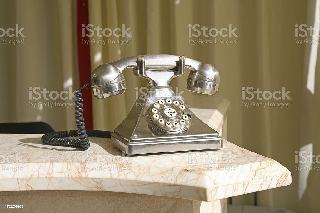 Retro Style Aluminum Telephone royalty-free stock photo