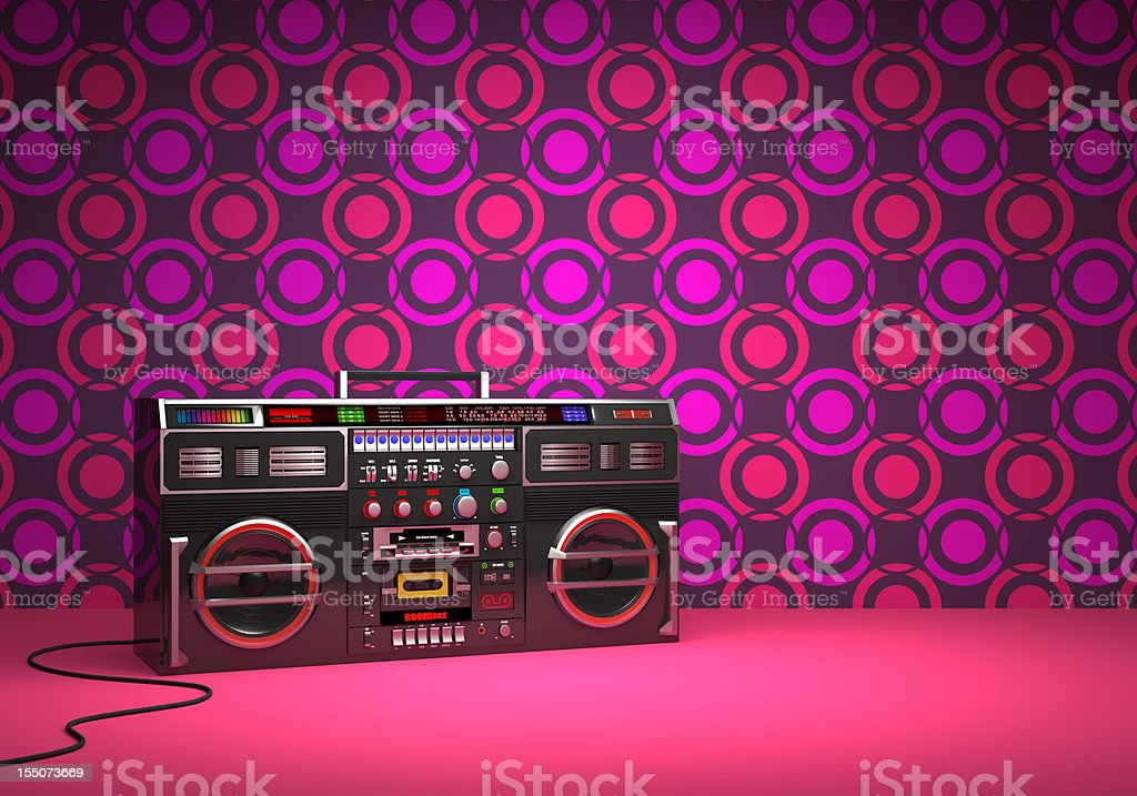 Retro style boom box stock photo