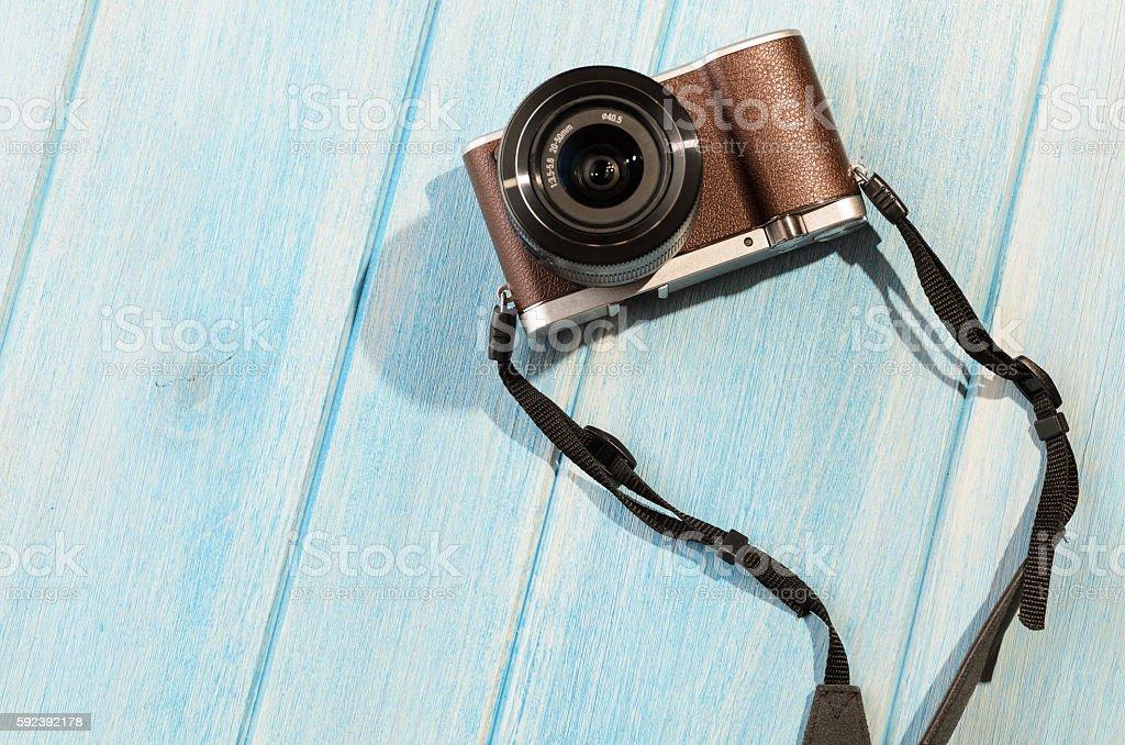 retro style camera stock photo