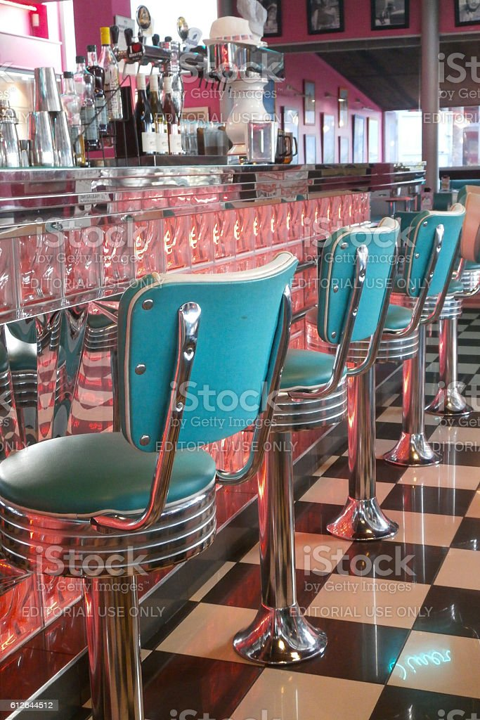 Retro style diner stock photo
