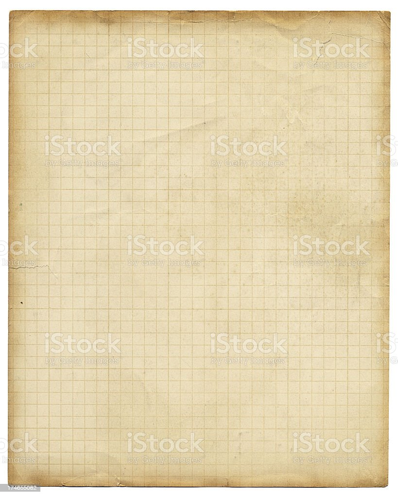 retro style graph paper stock photo