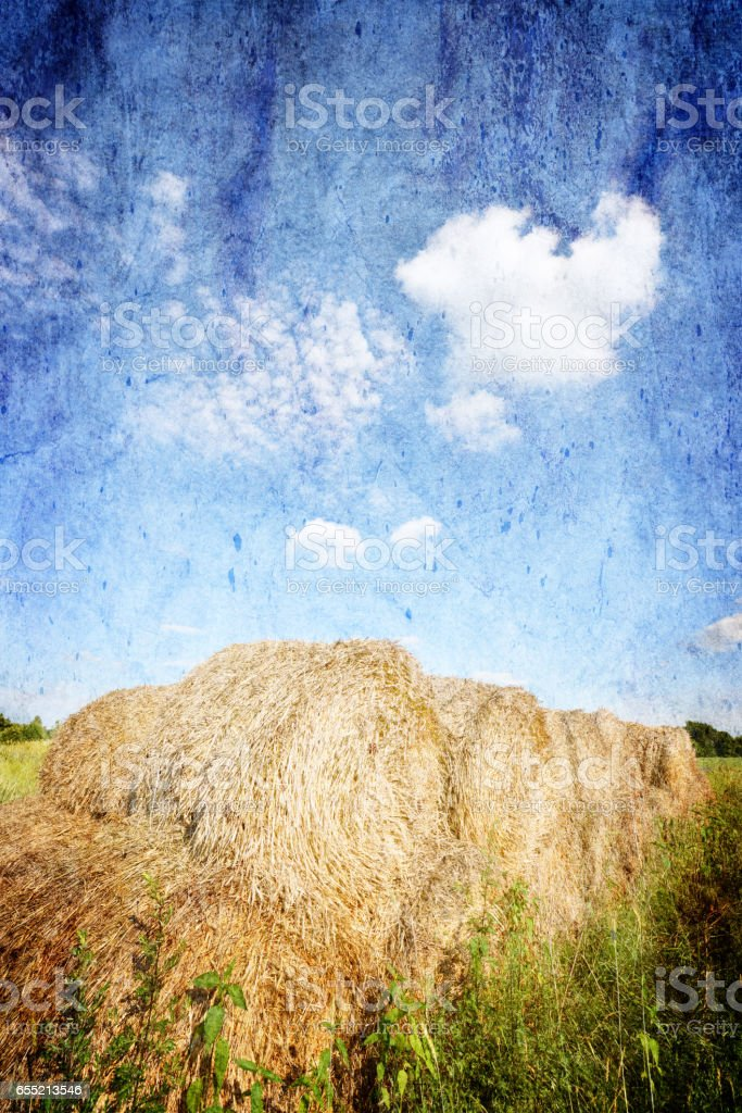 Retro style landscape stock photo