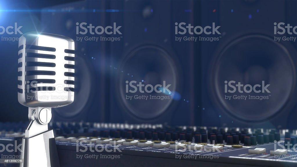 microphone rétro style photo libre de droits