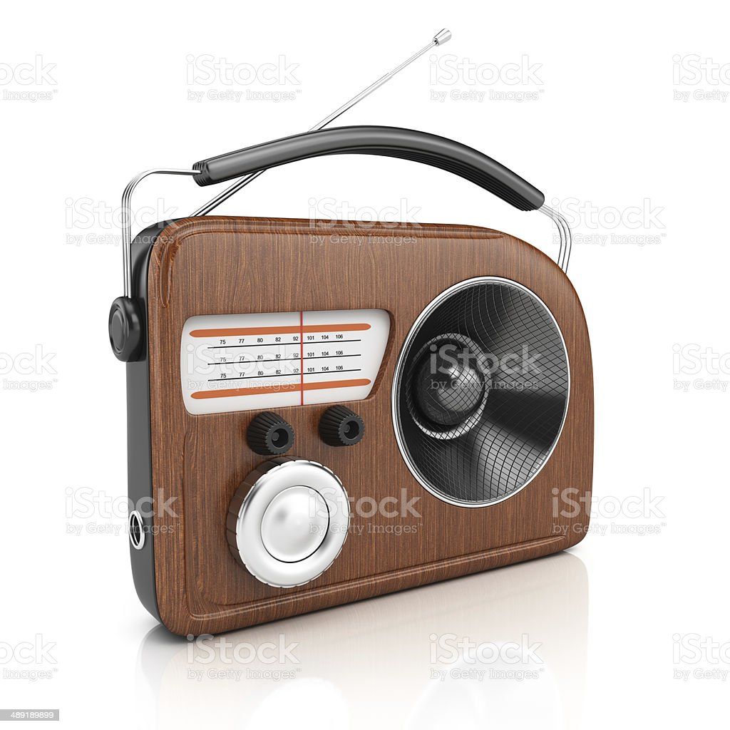 Retro style radio royalty-free stock photo