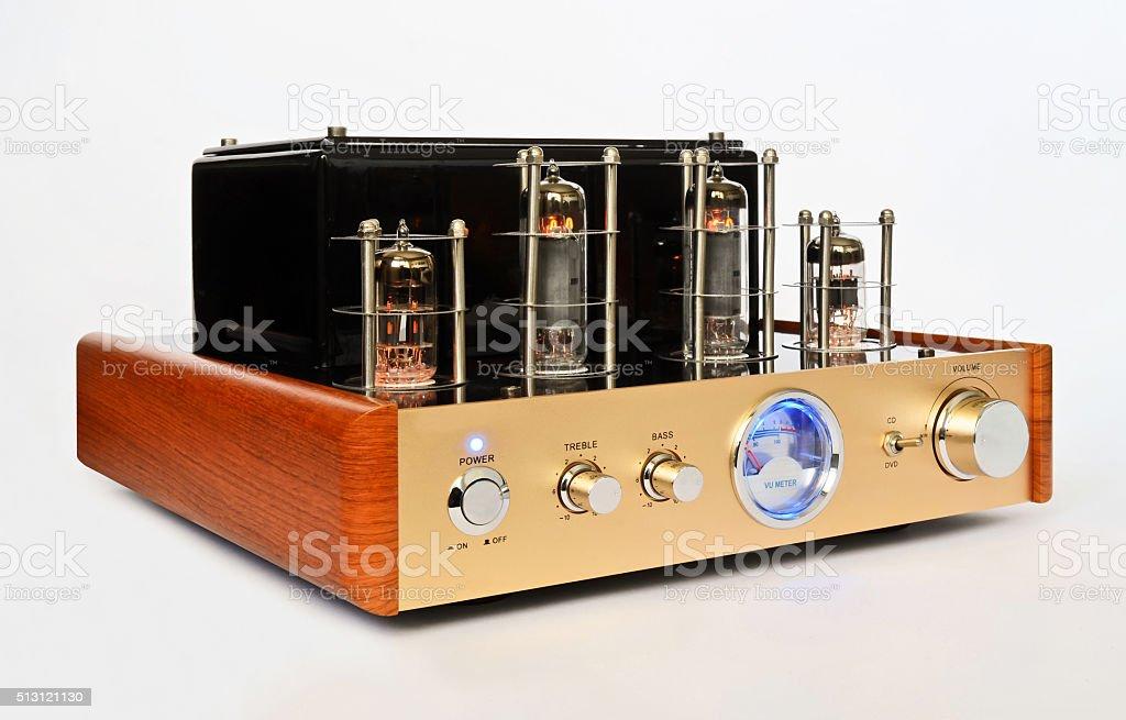 Retro Style Valve Amplifier stock photo