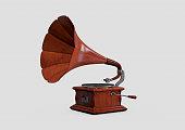 Retro styled gramophone isolated.