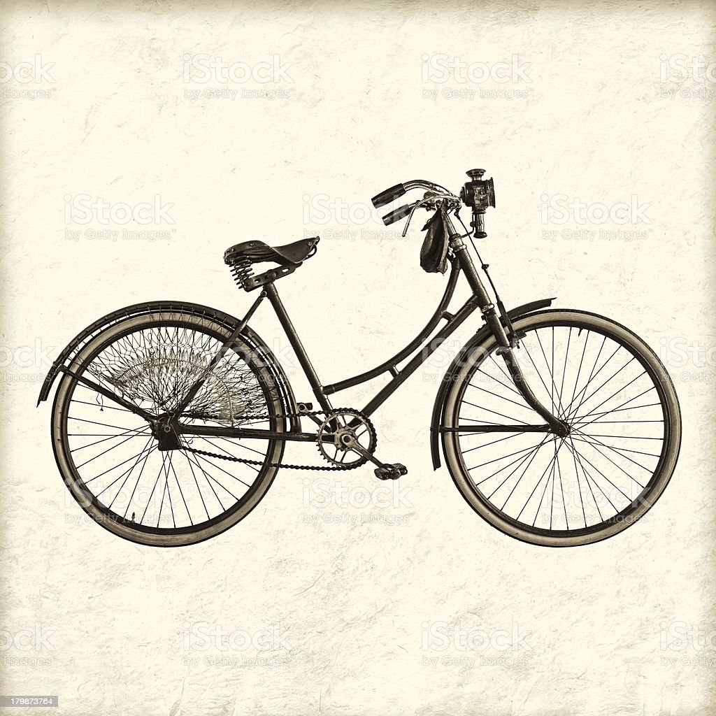Retro styled image of a vintage lady bicycle royalty-free stock photo