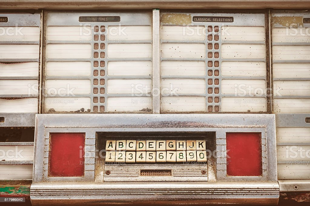 Retro styled image of an old jukebox stock photo