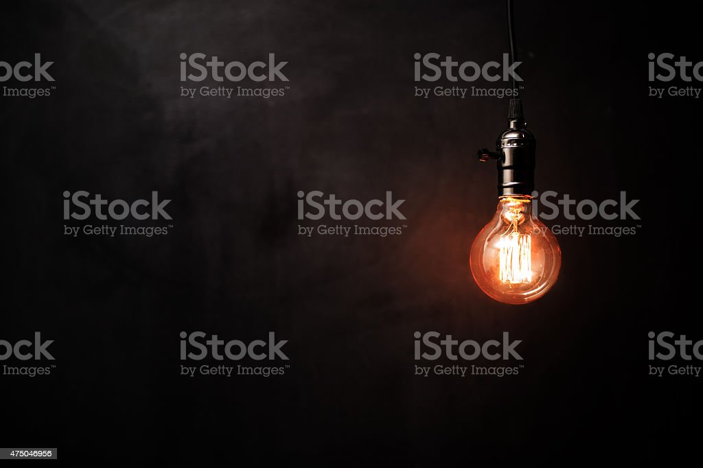 Retro styled lighting decoration stock photo