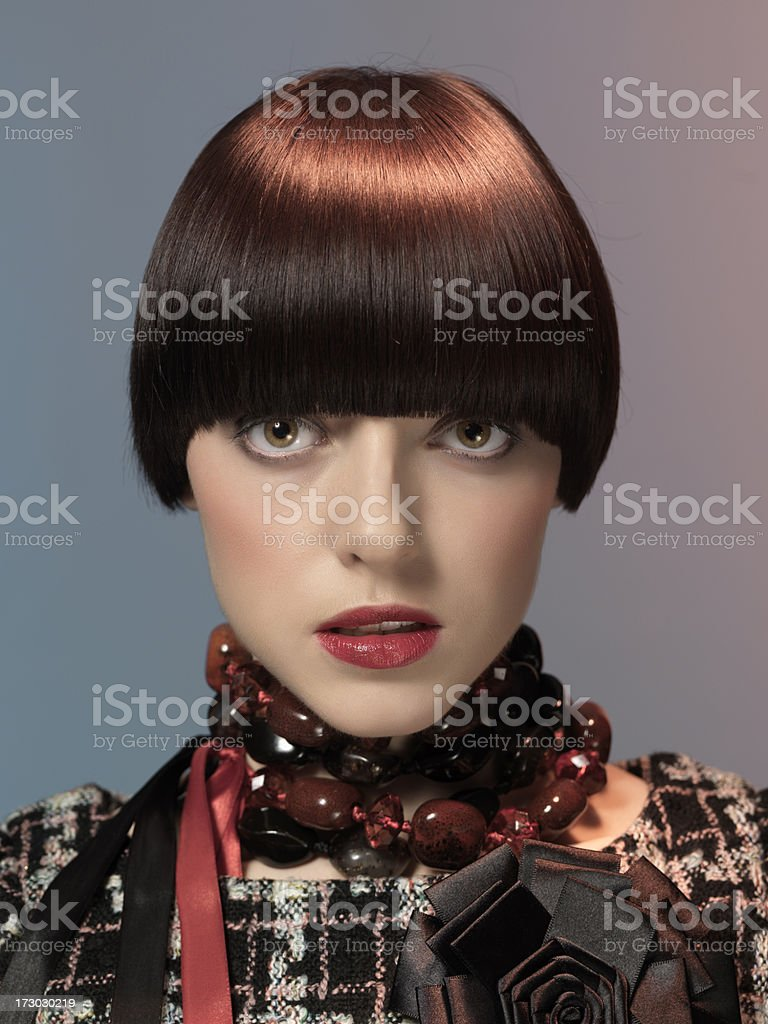 retro styled model royalty-free stock photo
