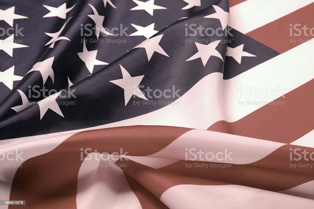 Retro styled picture of U.S. flag stock photo