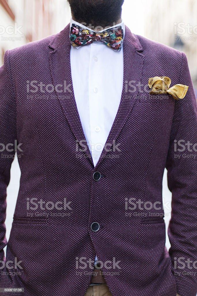 Retro suit stock photo