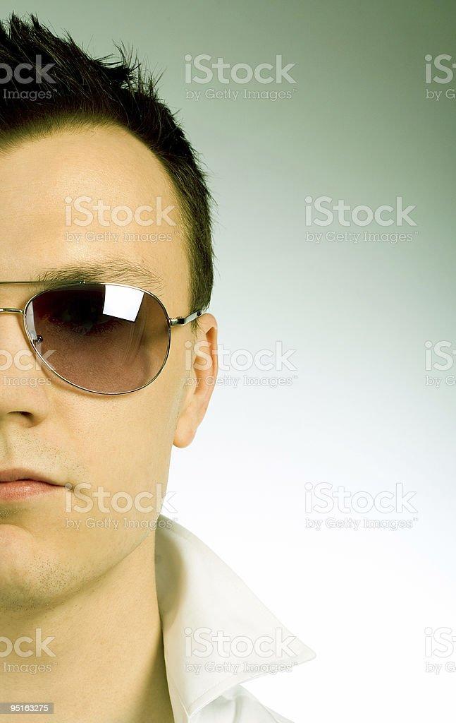 Retro sun glasses - green royalty-free stock photo
