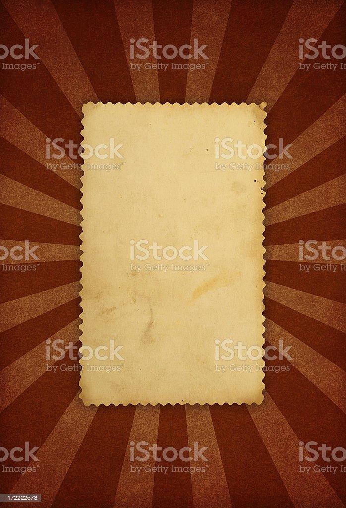 Retro Sunbeam Frame royalty-free stock photo