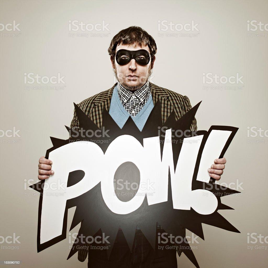Retro superhero royalty-free stock photo