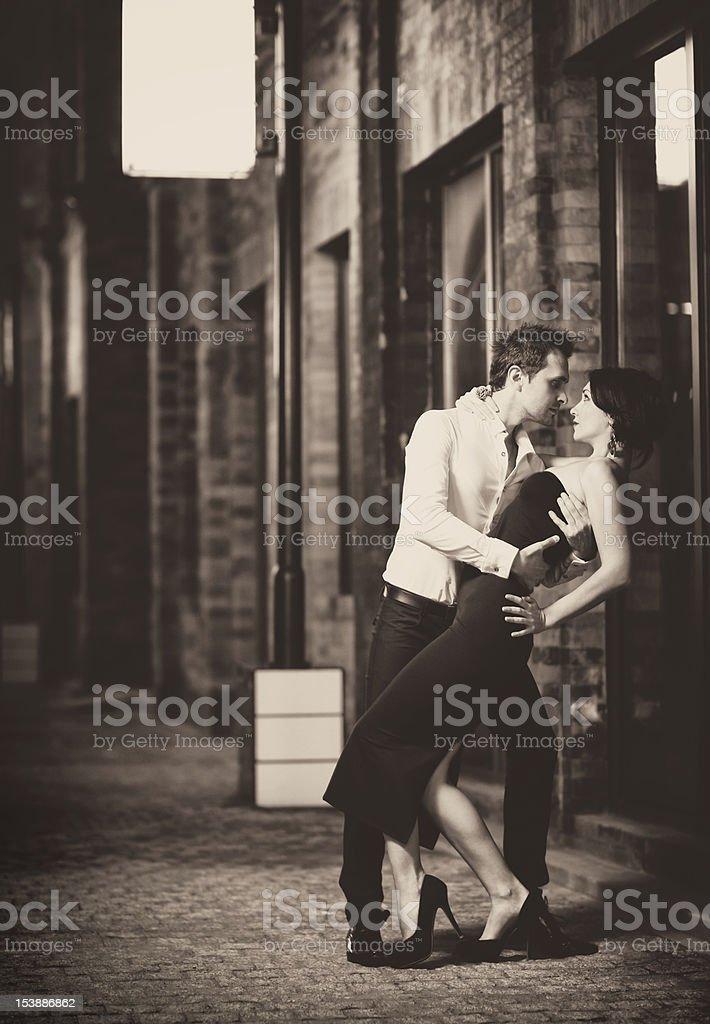 Retro tango dance stock photo