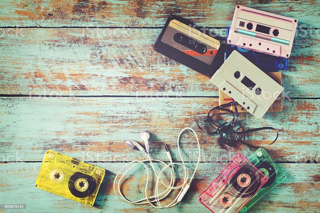 Retro tape cassette stock photo