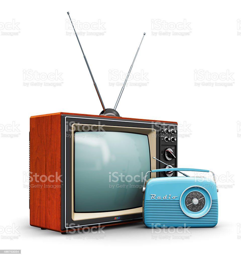 Retro technology stock photo