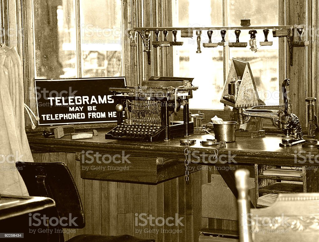 Retro Telegraph Office stock photo