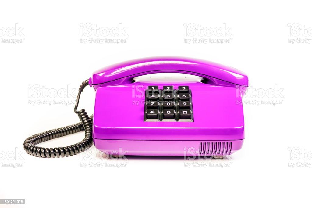 Retro telephone from Germany stock photo