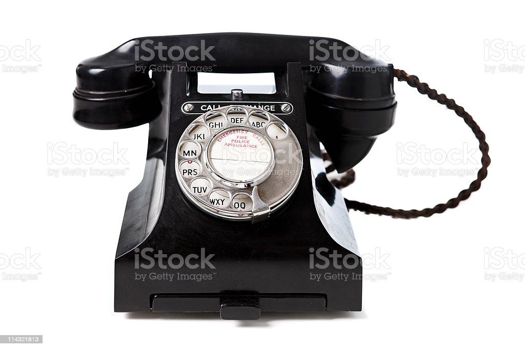 Retro telephone stock photo