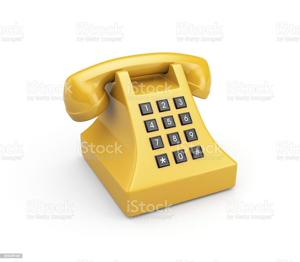 Retro telephone royalty-free stock photo