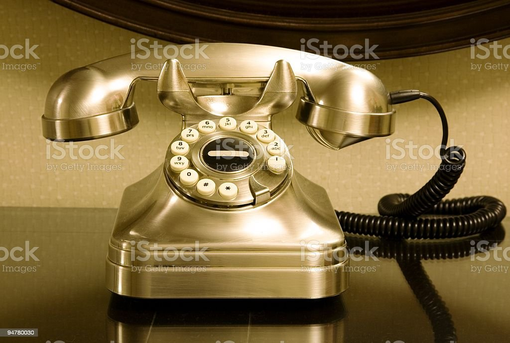 Retro telephone royalty-free stock photo