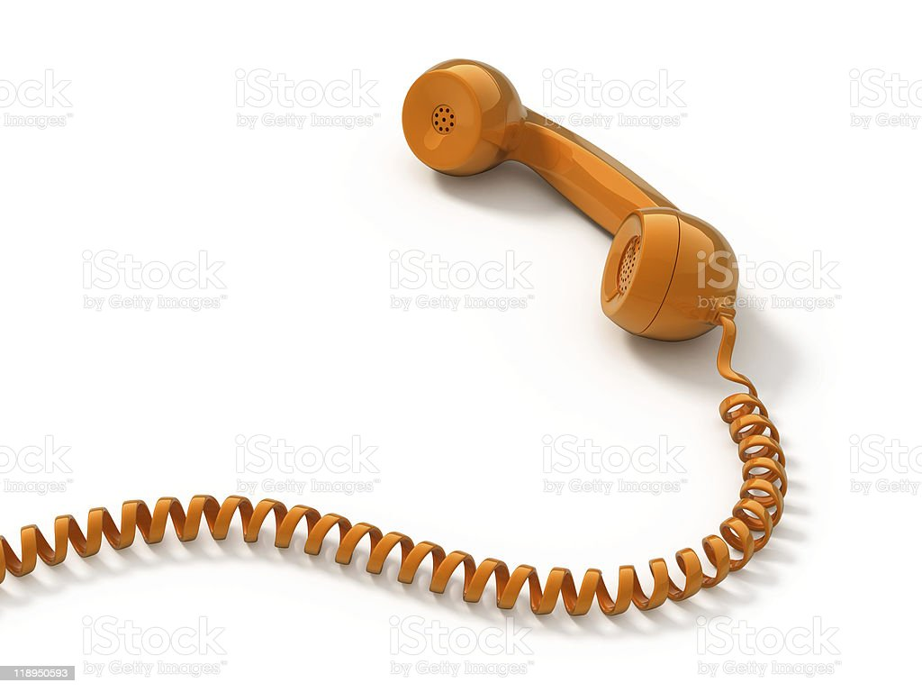 Retro telephone tube stock photo