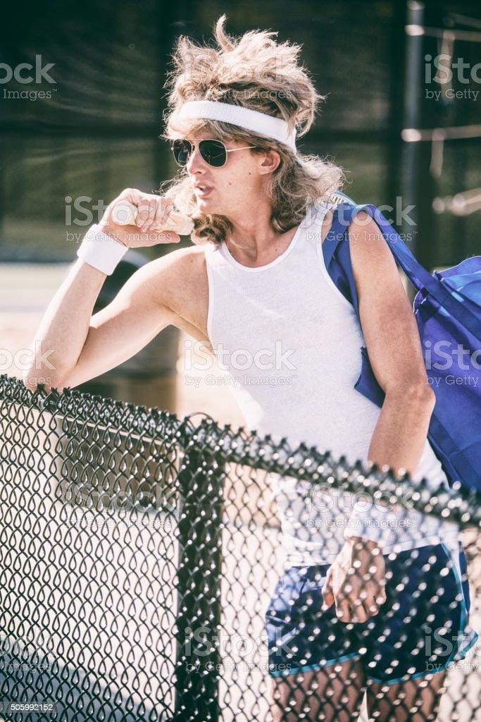 Retro Tennis Player stock photo