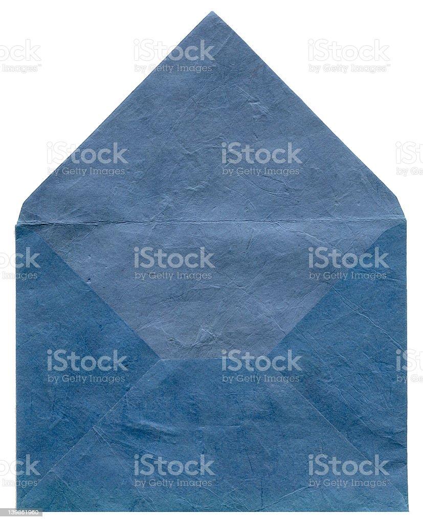 Texture bleu rétro enveloppe photo libre de droits