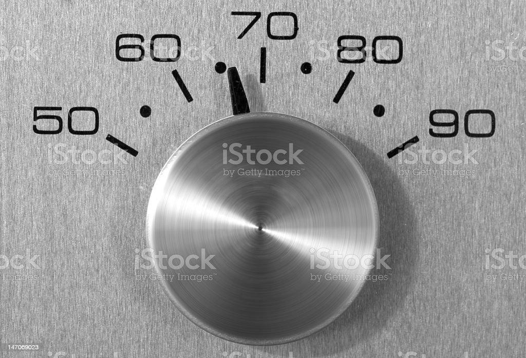 Retro Thermostat stock photo