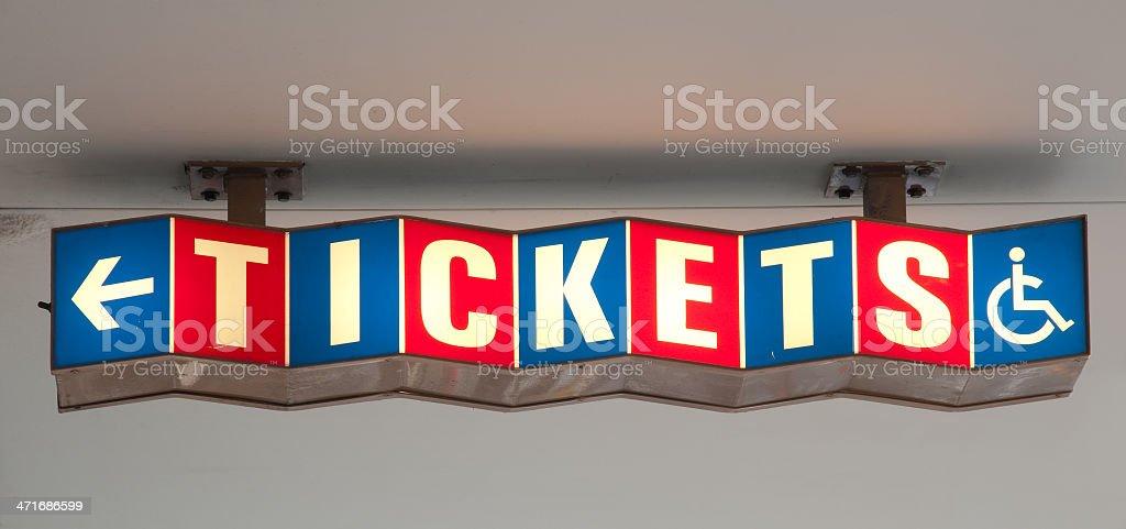 Retro Tickets Sign royalty-free stock photo