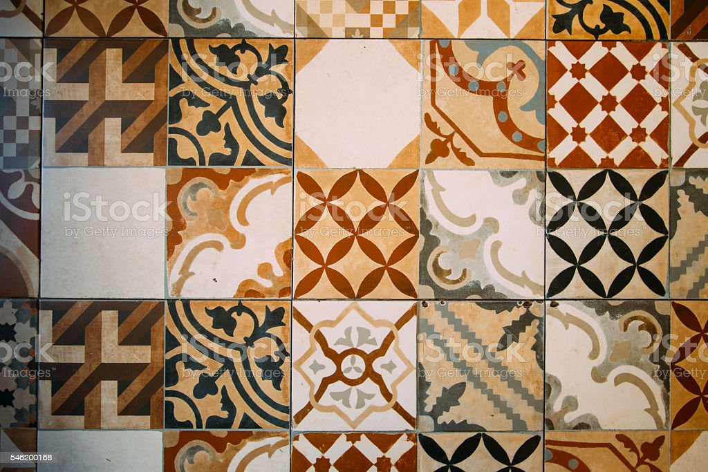 Retro tiles stock photo