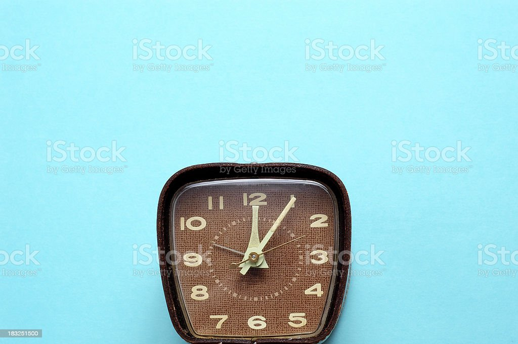 Retro Time on Aqua - #1 (Room for Text) royalty-free stock photo