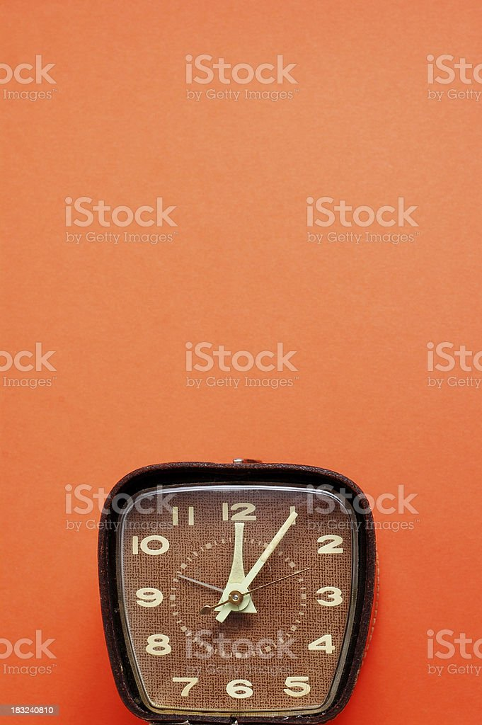 Retro Time on Orange - #2 (Room for Text) royalty-free stock photo