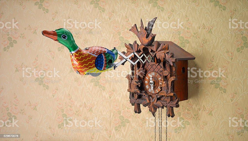 Retro Tin Toy Duck stock photo