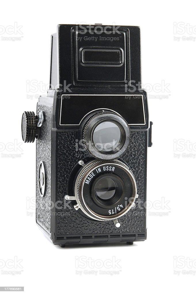 retro TLR camera stock photo